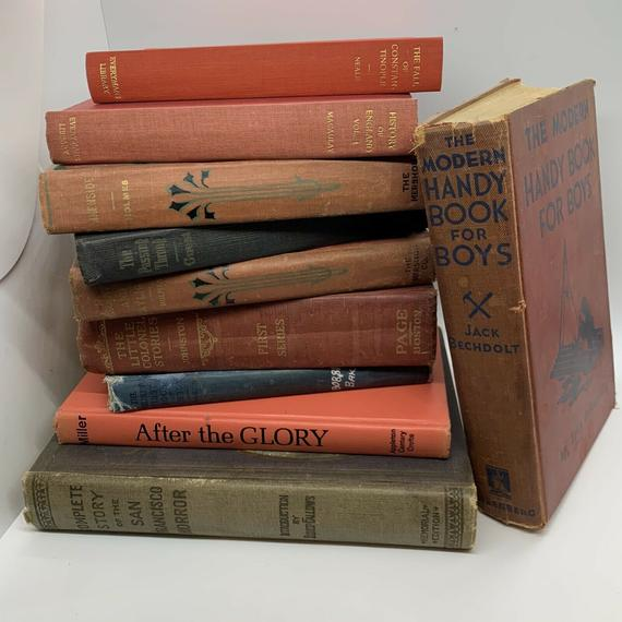 Lot of 10 Vintage Old Rare Antique Hardcover Books