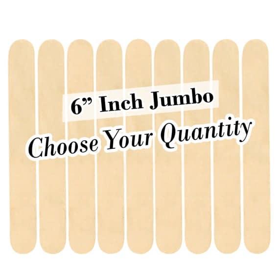 "6"" Jumbo Wood Craft Popsicle Sticks -FREE SHIPPING!"