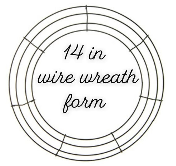 14 in wire wreath forms