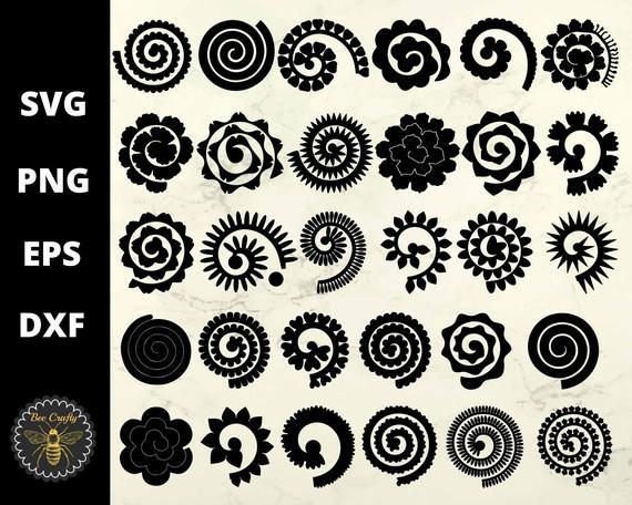 30 Rolled Flowers SVG Bundle