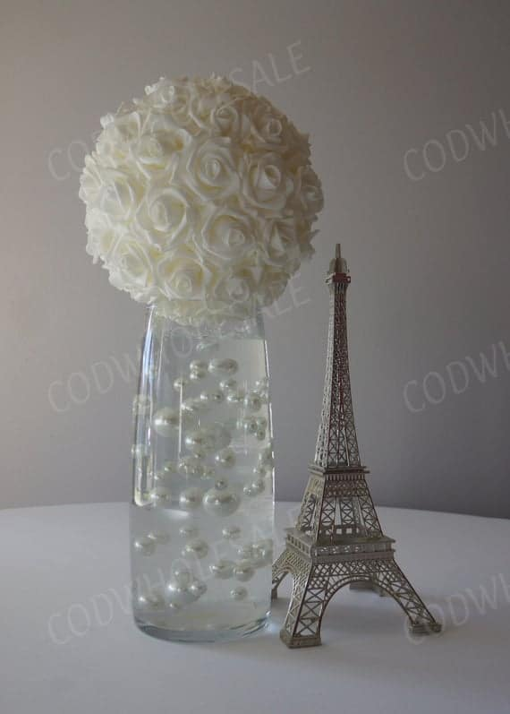 White Foam Rose Ball