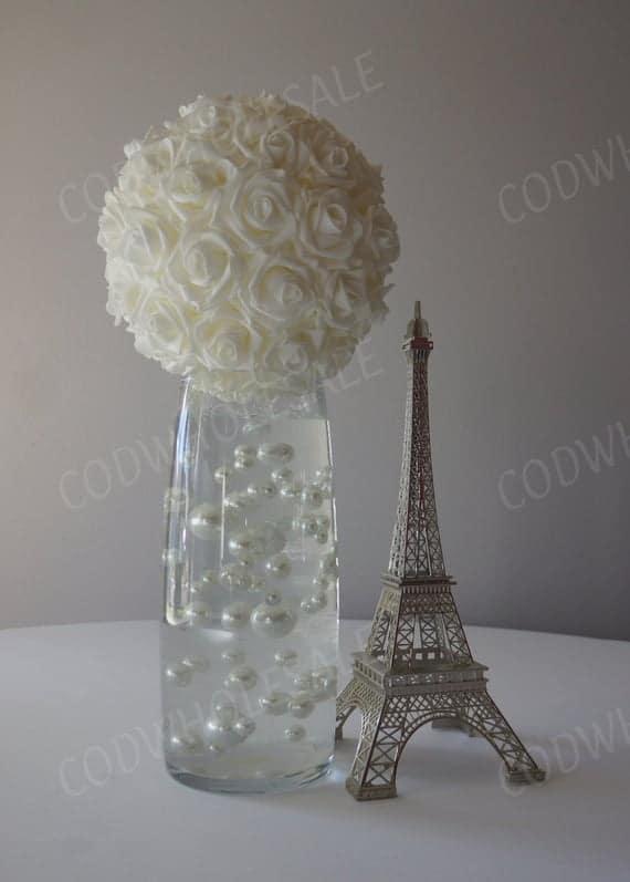 White Foam Rose Ball