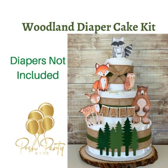 Woodland Diaper Cake Kit