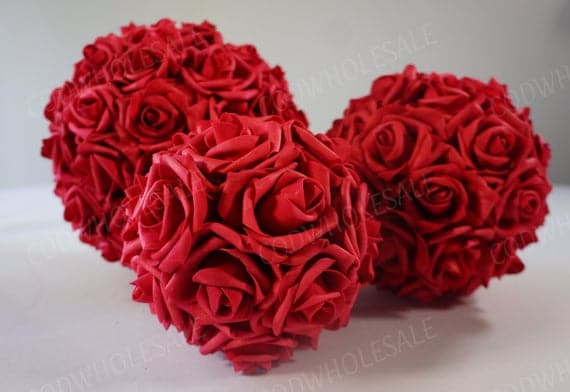 Red Rose Flower Ball