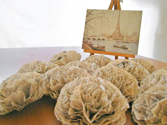 3 Book Paper Flowers