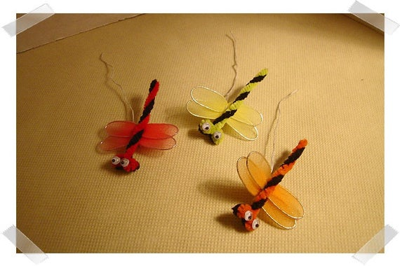 Embellishments- Dragonflies Pieces/ Set of 3/Craft Supplies*