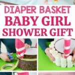 Diaper basket collage