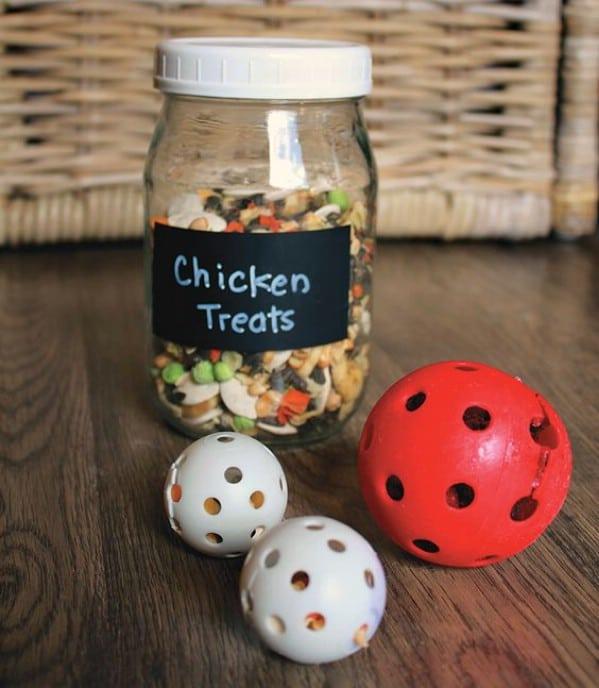 Jar of chicken treats