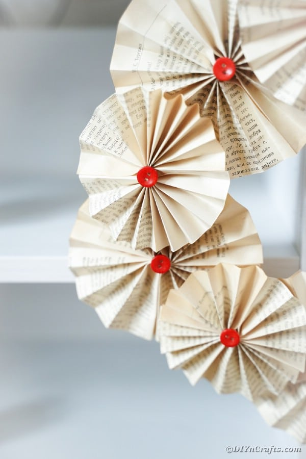 Paper fan wreath