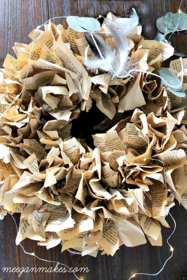 Crumpled paper wreath