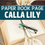 Paper calla lily collage