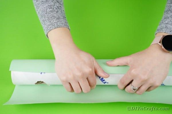 Wrapping cardboard tube