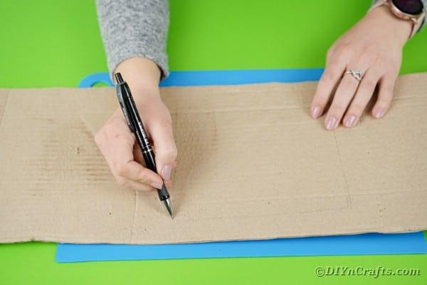 Drawing on cardboard