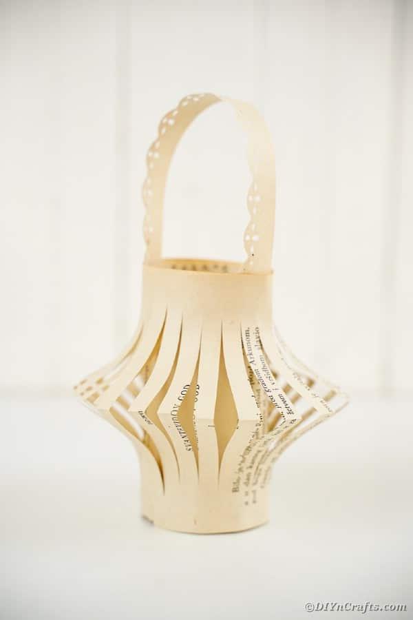 Paper lantern on white table