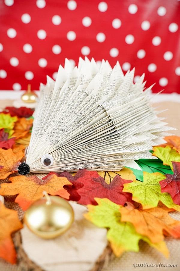 Hedgehog on leaves