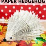 Hedgehog on leaves in front of polka dot background