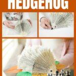 Old Book Hedgehog collage