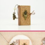 Miniature book keychain collage