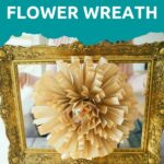 Woman holding old book page paper flower frame art