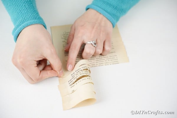 Folding book page paper
