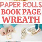Paper rolls wreath collage