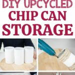 Pringles can storage containers collage