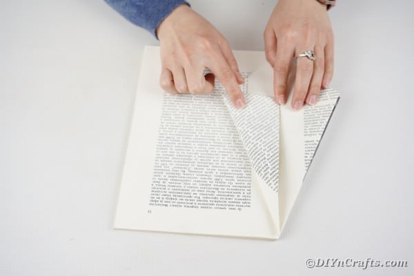 Folding book page