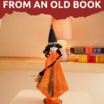 Old book witch collage