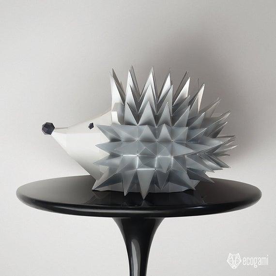 DIY Hedgehog Paper Sculpture