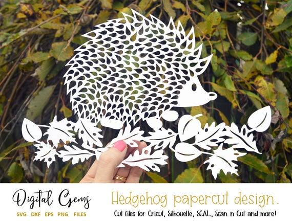 SVG Hedgehog Paper Cut Design