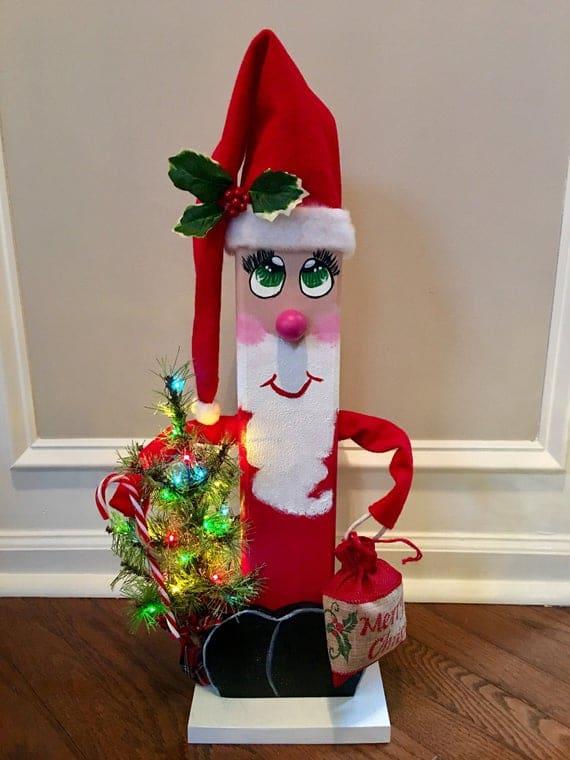 Wooden Santa Claus Christmas Decoration