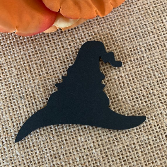 Crumpled Witch Hat Paper Cut Outs