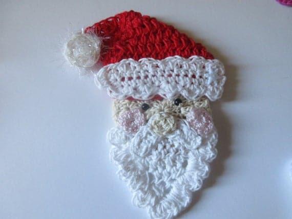 Crochet Santa Claus Applique