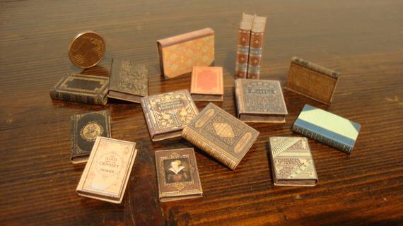 Assorted Miniature Books for Dollhouses