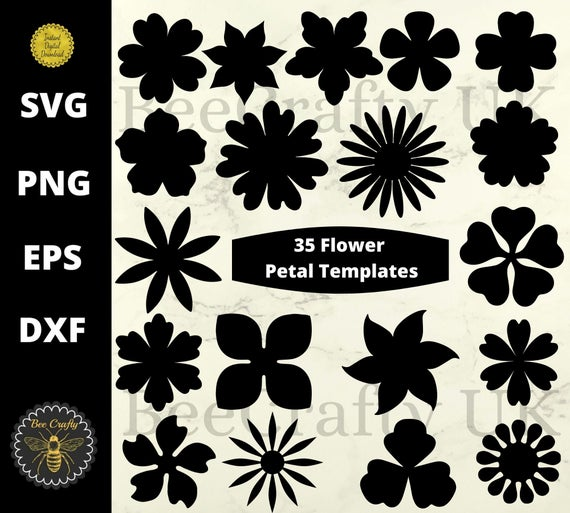 Paper Flower SVG Template Pattern Bundle