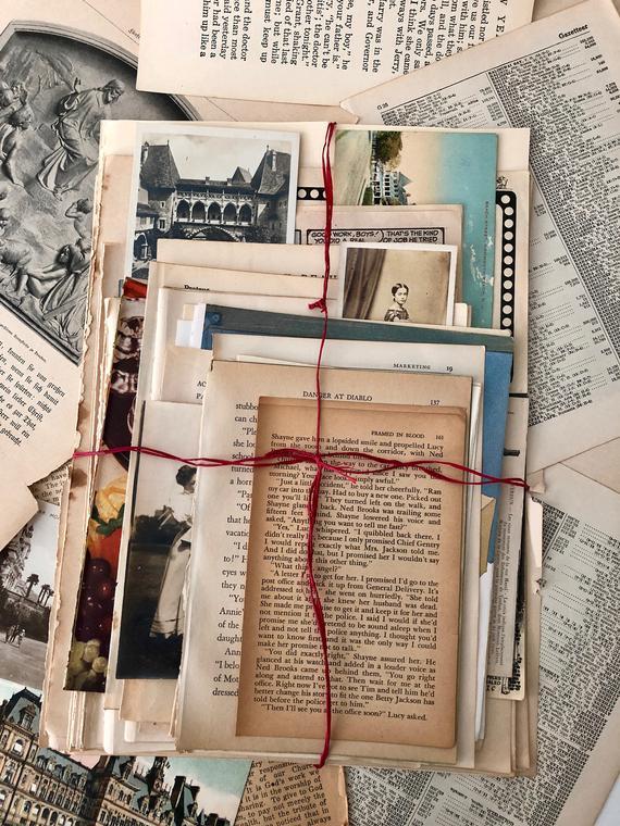 Book Page Vintage Paper