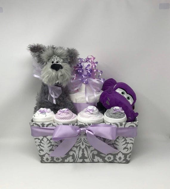 Girl Diaper Cake Gift Basket