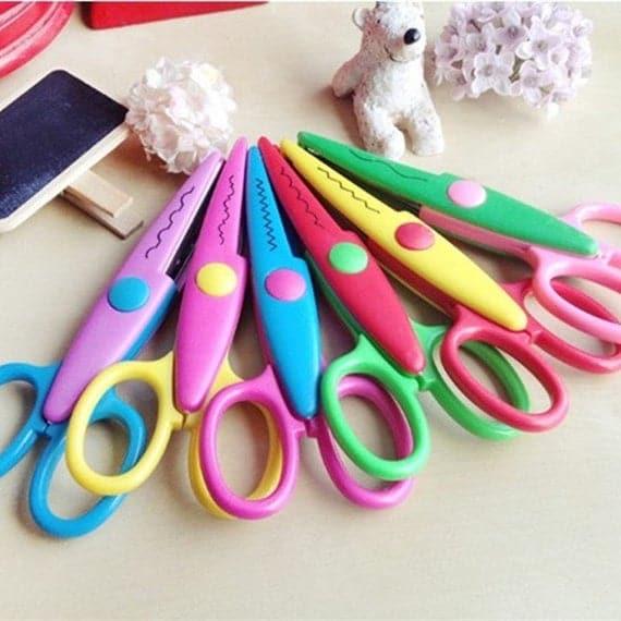 6 x Design Decorative Edge Craft Scissors