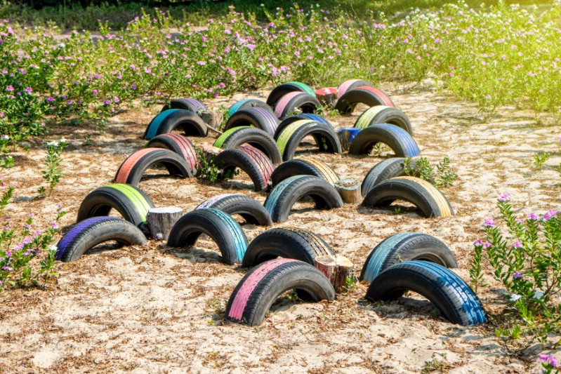 Build a Tire Playground