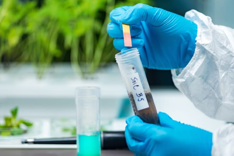 Soil acidity test