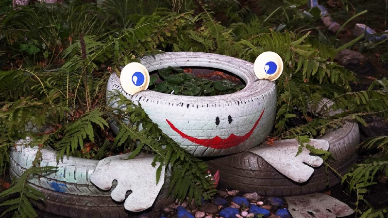 Build a Frog Planter