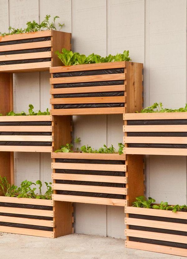 wood creat planters