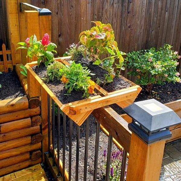 Hanging rail planter
