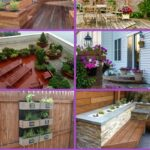 Built in planter collage