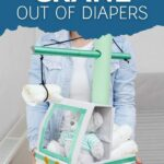 Woman holding diaper crane