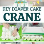 Crane diaper cake collage