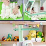 Crane diaper cake collage