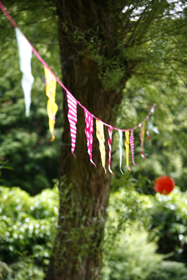 Hanging garden flags
