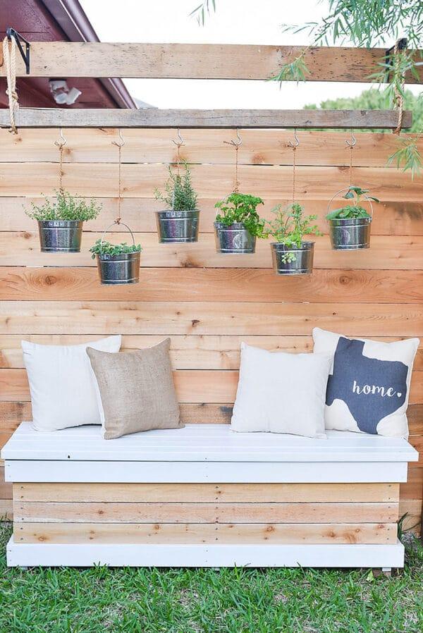 Bucket herb garden