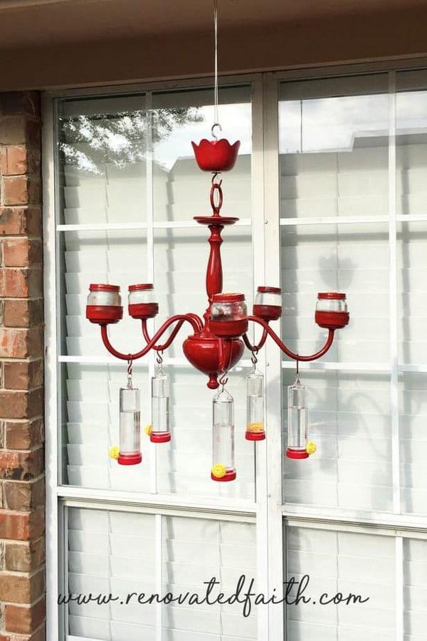 Chandelier bird feeder